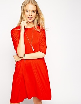 asos-the-t-shirt-dress-with-short-sleeve-red