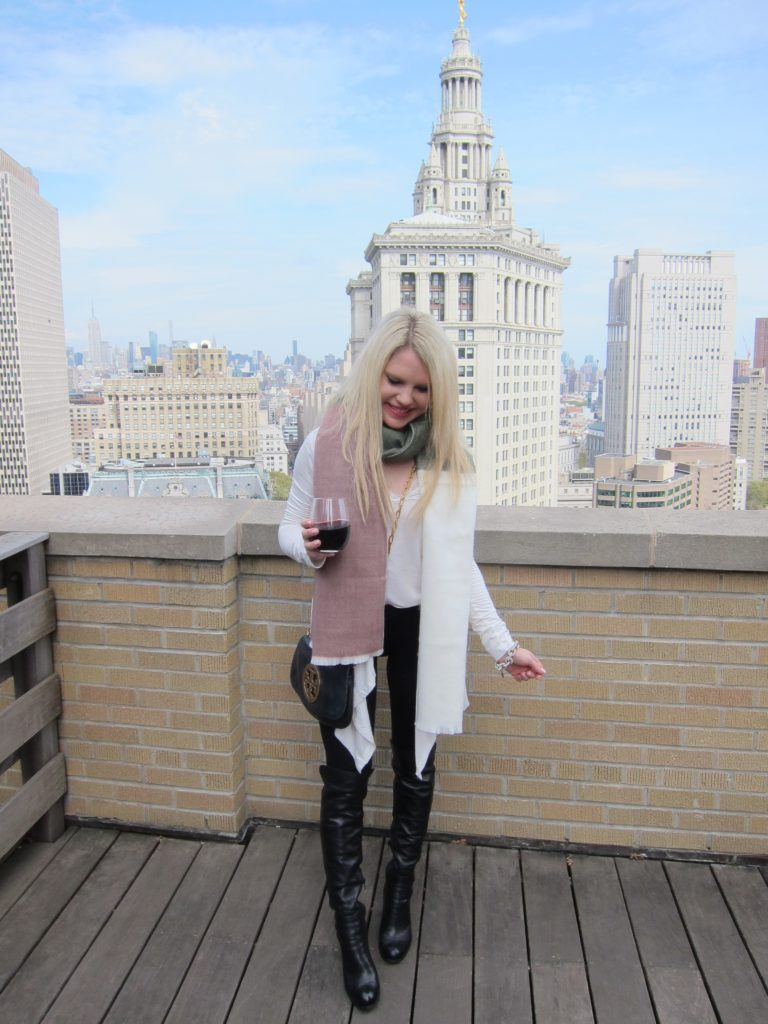 nyc rooftop, winter outfit