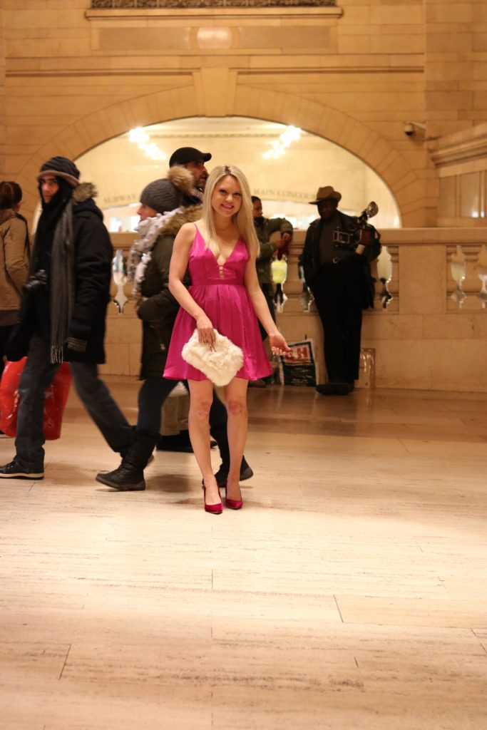 pink sam edelman pumps, grand central
